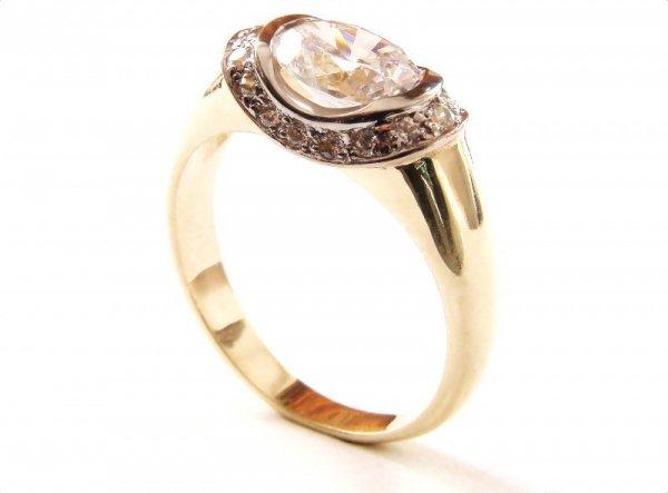 ARTES-Pierścionek złoty 520 PR. 585