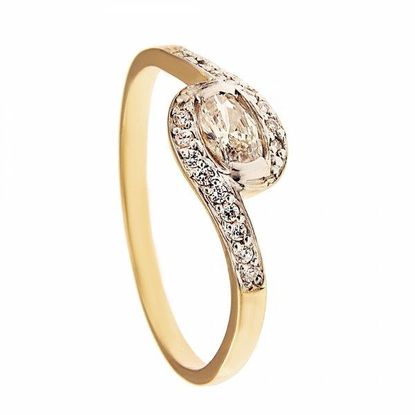 ARTES-Pierścionek złoty zaręczynowy 588