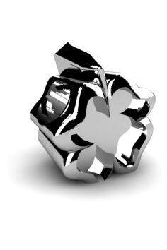 Koralik charms zawieszka modułowa srebro 925 Koniczyna