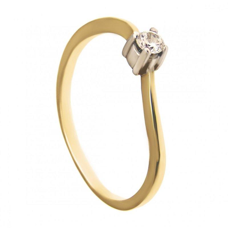 ARTES-Pierścionek złoty zaręczynowy A-108/375
