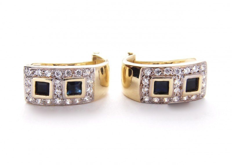 Kolczyki złote 585 na klapkę, zatrzaskowe - ARTES-Kolczyki złote 388 PR. 585