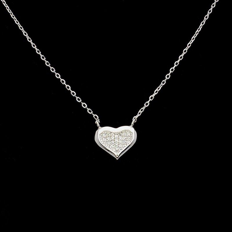 Celebrytka łańcuszek srebro 925 SERCE 24H