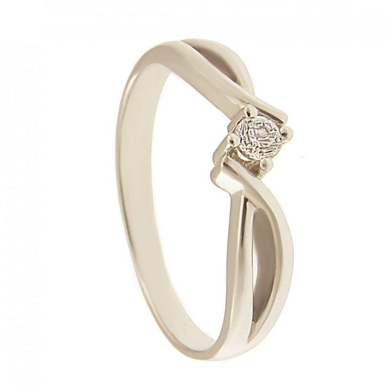 Pierścionek złoty, 24H, zaręczynowy, brylant PR. 585