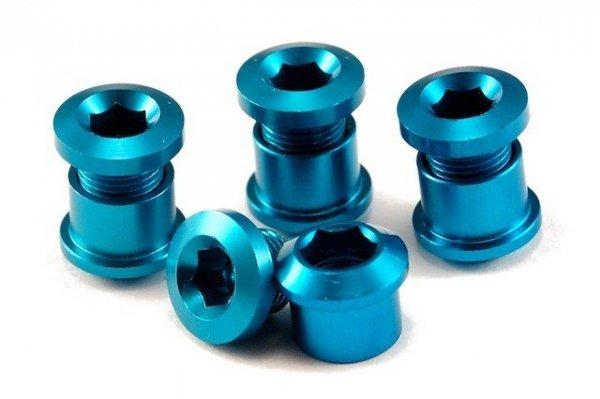 Aluminiowe śruby do korb z kominami kolor-niebieski (2012)