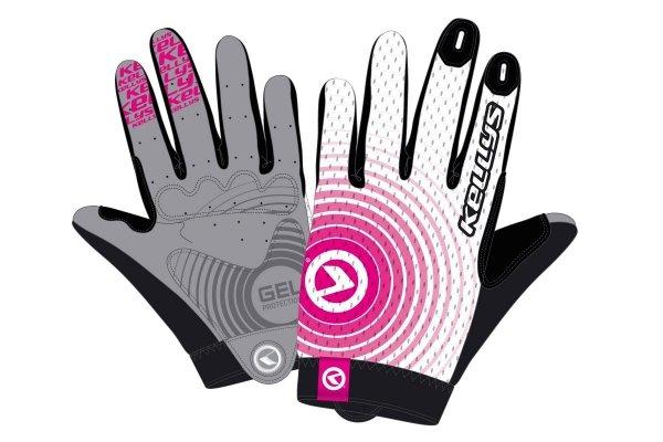 Rękawice INSTINCT long white-pink