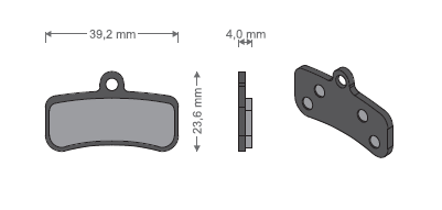 KLOCKI METALICZNE - Shimano BR-M81/820/640/MT520/Tektro Q