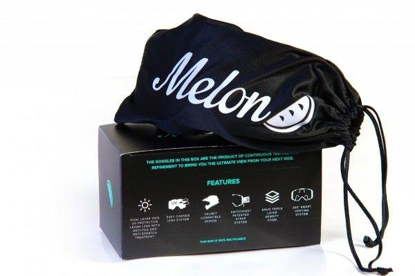 Gogle Melon PARKER MTB/MX Czarny Mat (Pasek i szkło do wyboru)