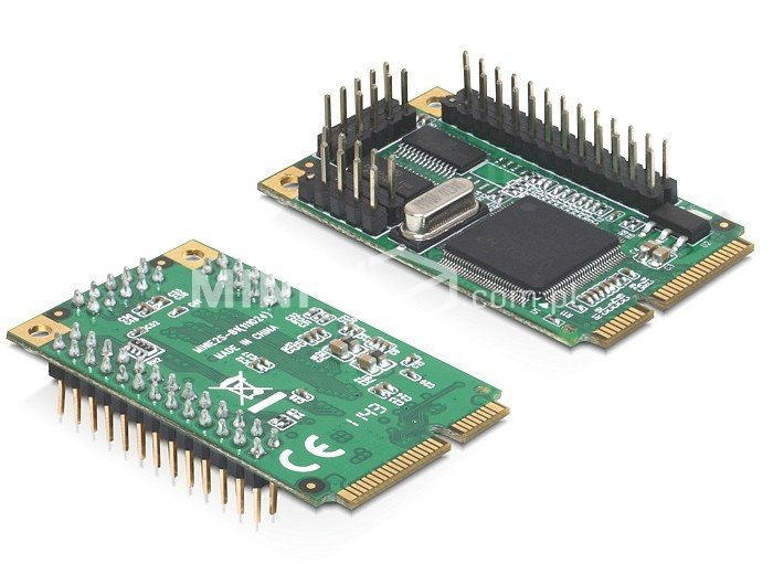 Adapter MiniPCIe 2x COM + równoległy Delock