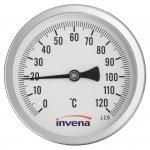 Termometr techniczny 1/2 100 mm axialny centralny