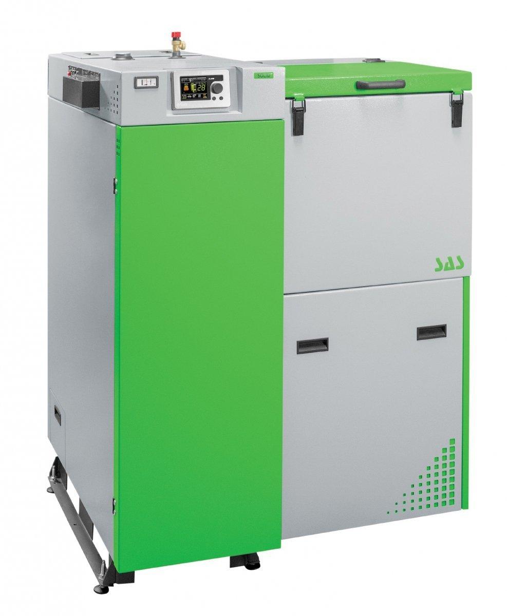 Oryginał Kocioł ekologiczny 5 klasy Sas Solid z podajnikiem automatycznym MS37