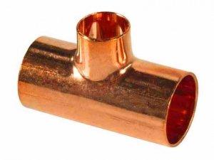 Trójnik miedziany redukcyjny Cu 22x15x22 do lutu