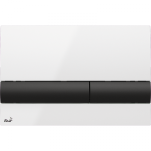 Alcaplast M1710-8 przycisk spłukujący WC czarno-biały