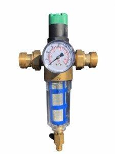 Reduktor ciśnienia z filtrem opłukującym 3/4 AQ