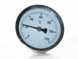 Termometr Tarczowy pieca CO 1/2 63mm Tylny