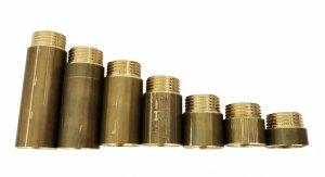 Przedłużka mosiężna 3/4 20 mm 25 bar wzmocniona