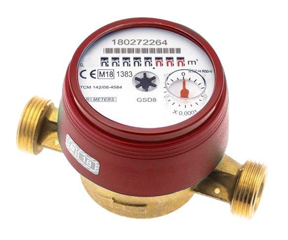 Bmeters GSD8 Wodomierz licznik ciepłej wody 1/2 JS 1,6