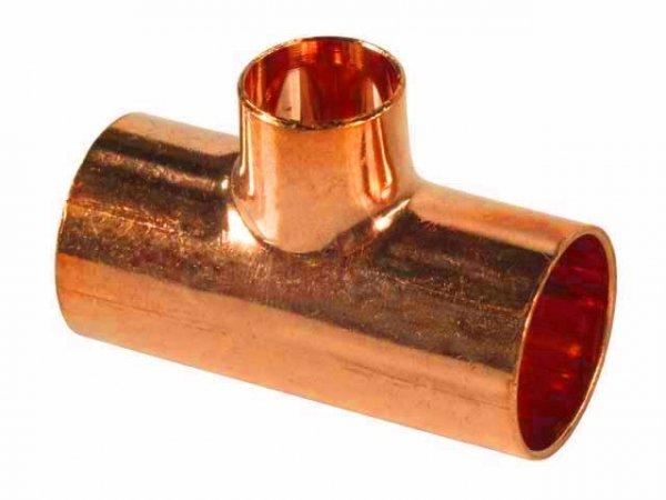Trójnik miedziany redukcyjny Cu 22x18x22 do lutu