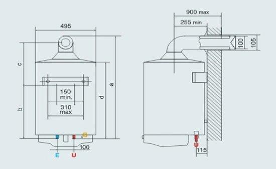 Bojler Gazowy Ariston S/SGA BF X 100 EE