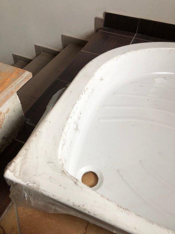 Brodzik półokrągły do prysznica 90 15 cm