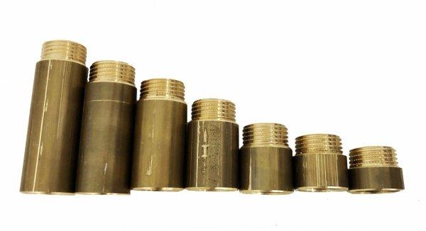 """Przedłużka mosiężna 1/2"""" 10 mm 25 bar wzmocniona"""