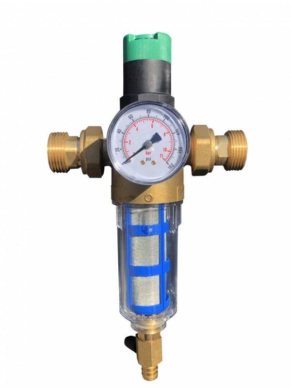 """Reduktor ciśnienia z filtrem opłukującym 3/4"""" AQ"""