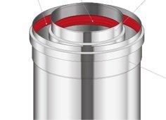 Adapter prosty Immergas 80/125 Przyłącze kotła kondensacyjnego