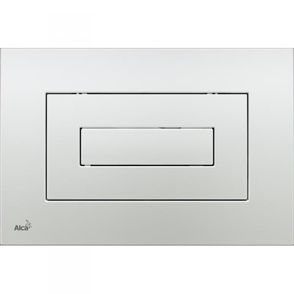Alcaplast Przycisk spłukujący do spłuczki wc biały chrom mat m47x