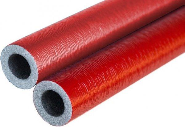 Otulina na rurę 32 35/6 czerwona w laskach 2m