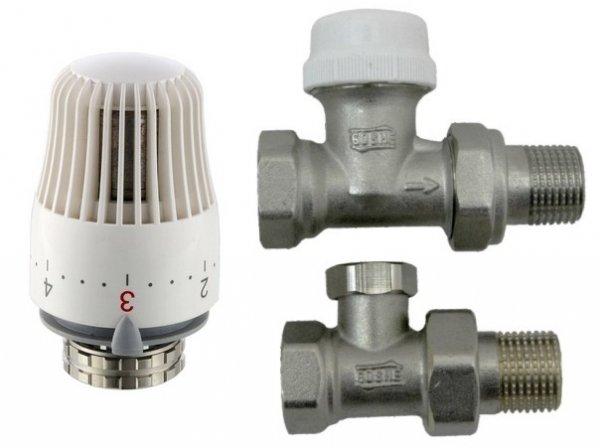 Zestaw termostatyczny z głowicą Goshe prosty