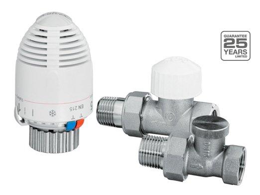 Zestaw termostatyczny Valvex Max prosty z głowicą