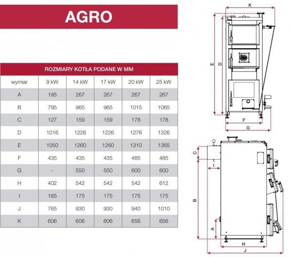 DEFRO AGRO 17 kW KOCIOŁ ZASYPOWY do 190 m2