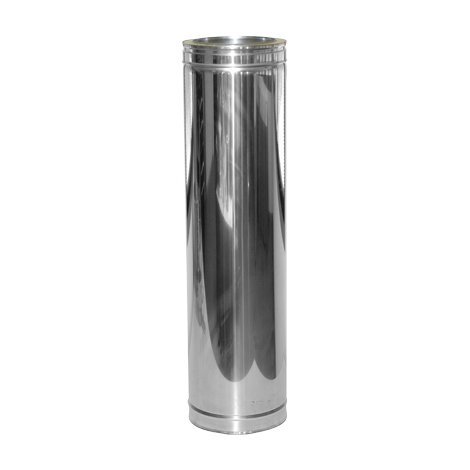 Poujoulat Rura spalinowa dwuścienna 80/125 1000 mm