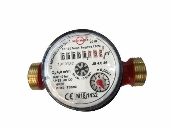 Wodomierz ciepłej wody 3/4 JS 4,0 m3/h