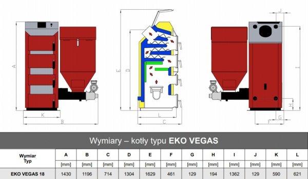 Stalmark Eko Vegas 18 kW kocioł z podajnikiem do 225 m2