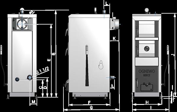 Ogniwo Classic DS 18 kW kocioł węglowy zasypowy 5 klasy