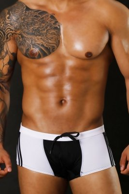 Plavky BODY GMW Square Black (boxerky)
