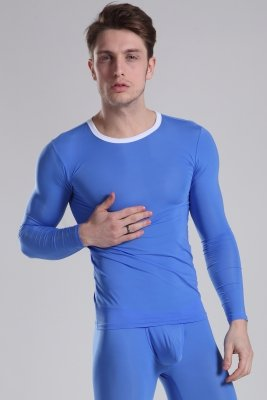 Thermal Top Push Up MANVIEW Blue