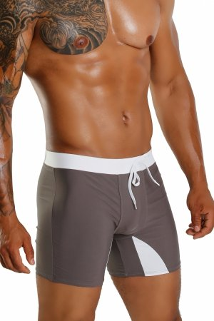 Supa! Swim! Square Grey Swimming boxers