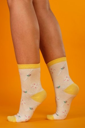 Supa! Sox! White Fun ladies socks