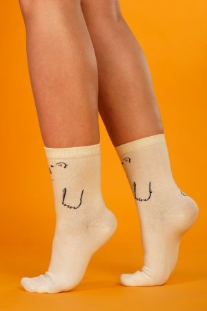 Supa! Sox! White Bear ladies socks
