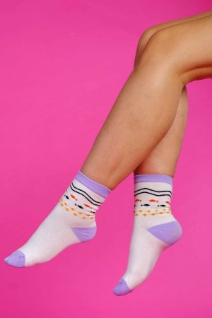 Supa! Sox! Purple Fish ladies socks