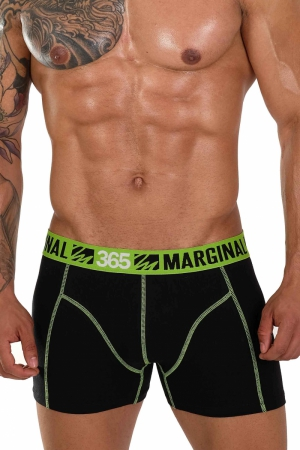 MARGINAL 365 Black+Green Boxer Briefs