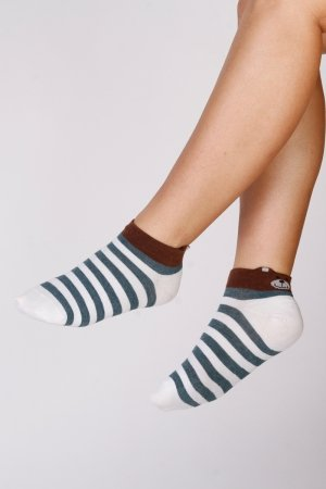 Supa! Sox! Green Stripes ladies socks (JP6509)