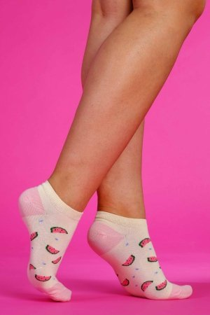 Supa! Sox! Yellow Watermelons ladies socks