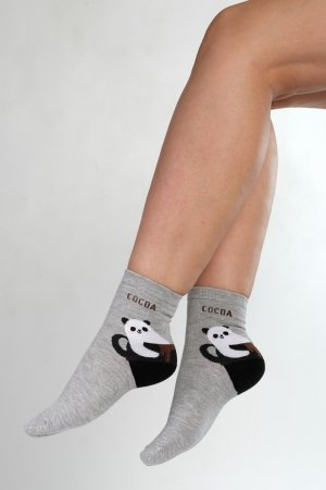 Supa! Sox! Grey Cocoa ladies socks