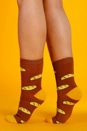 Supa! Sox! Brown Pastries ladies socks