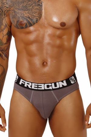 FREEGUN Basic Grey briefs