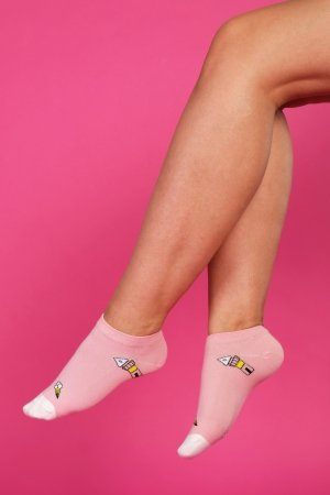 Supa! Sox! Pink Fun ladies socks