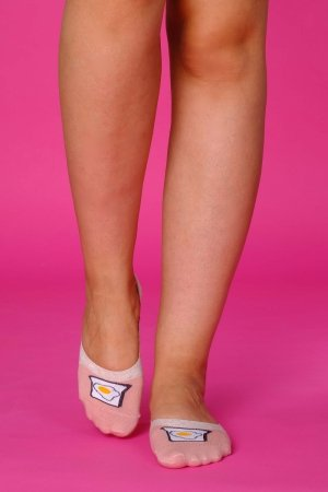 Supa! Sox! Pink Egs ladies socks