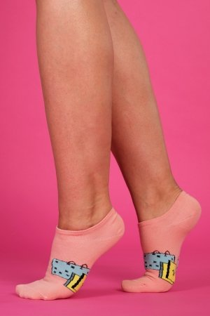 Supa! Sox! Pink Art ladies socks